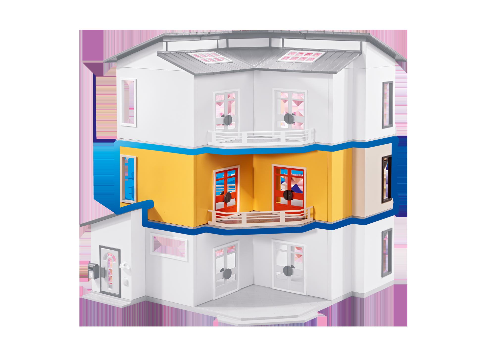maison moderne playmobil etage supplementaire
