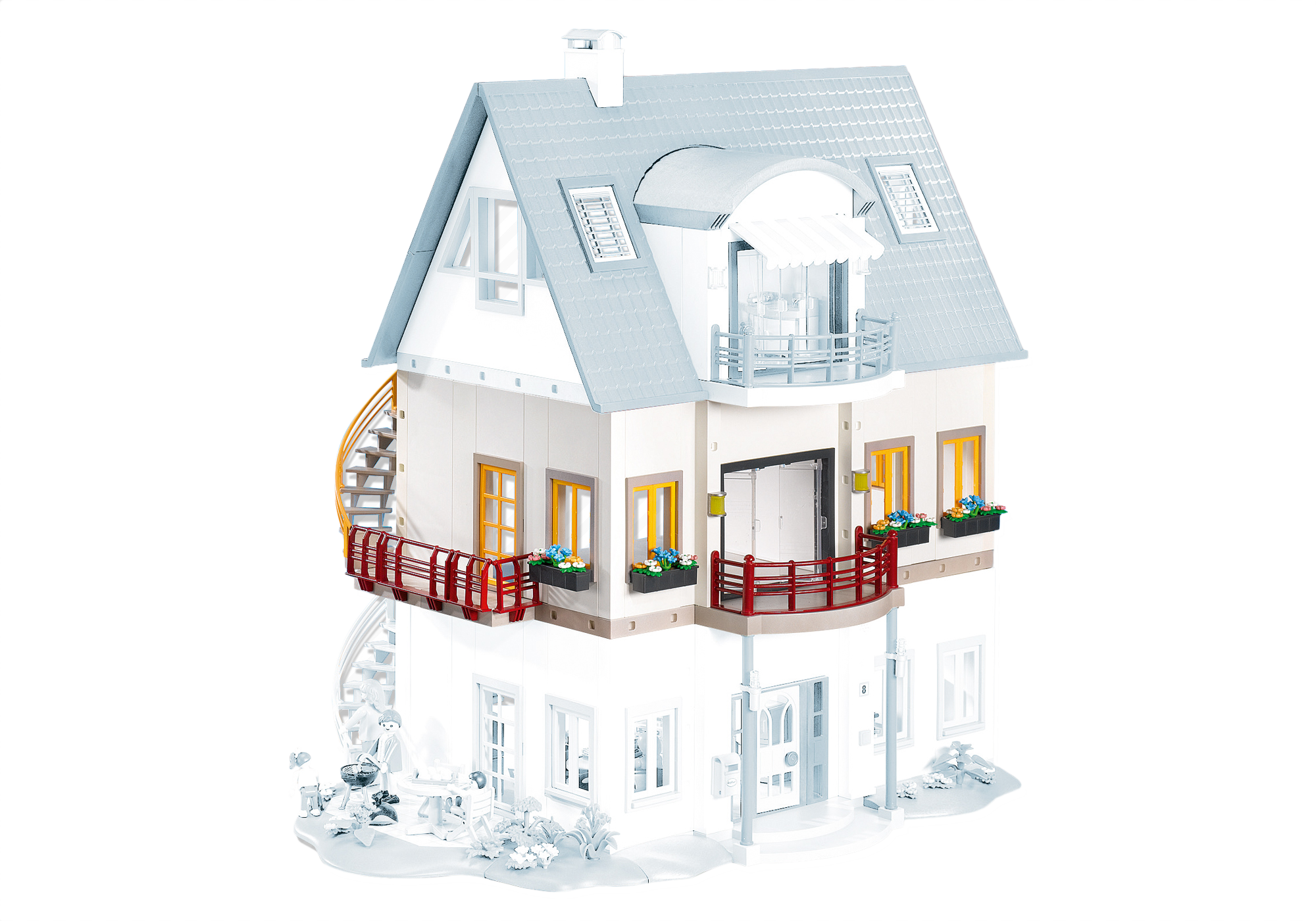 Maison moderne playmobil etage supplementaire for Agrandissement maison moderne playmobil
