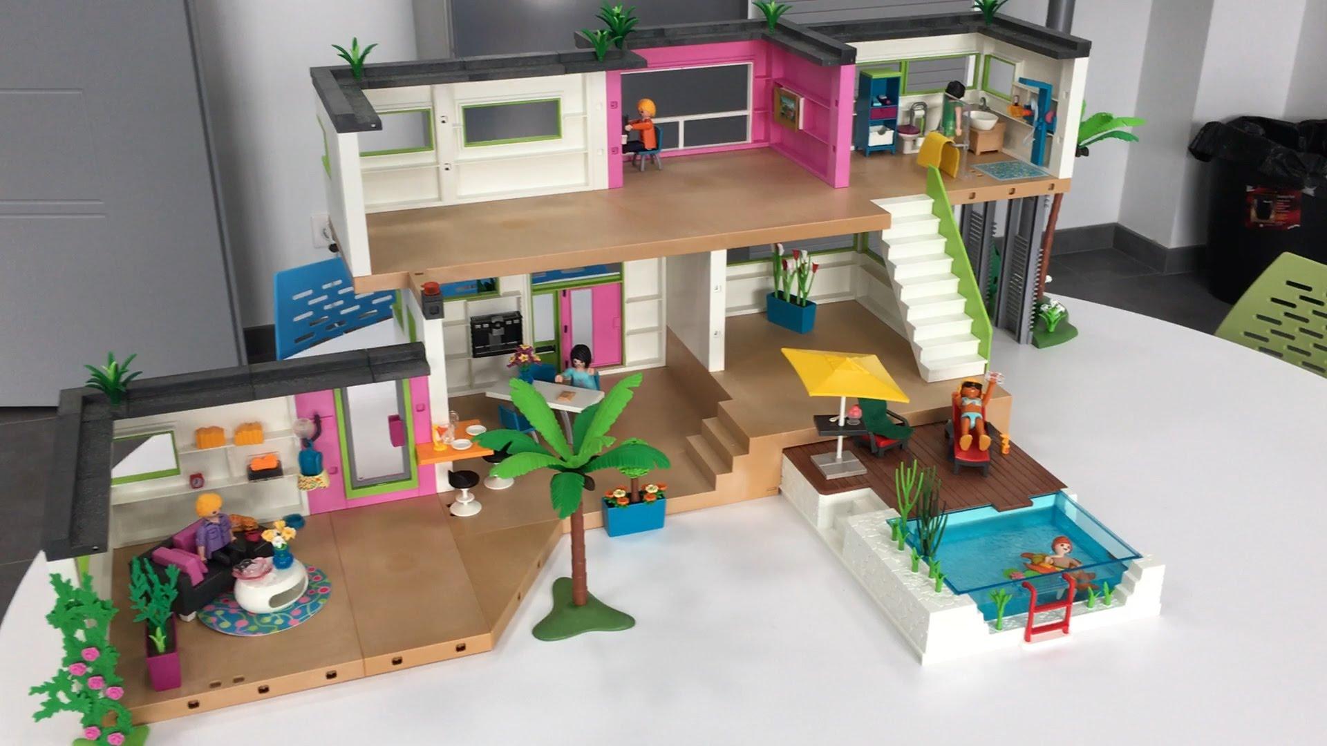 maison moderne playmobil leclerc. Black Bedroom Furniture Sets. Home Design Ideas