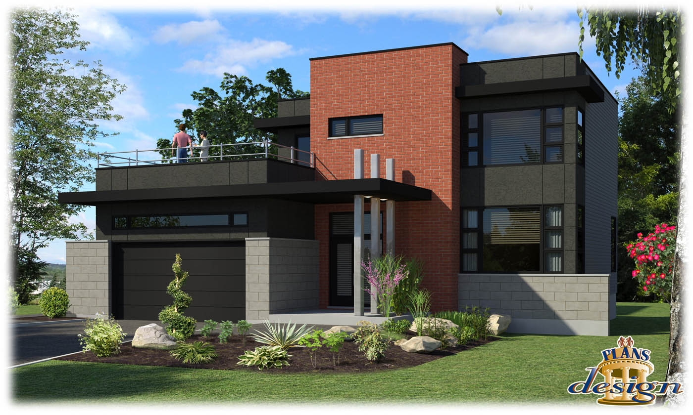 maison moderne r+2