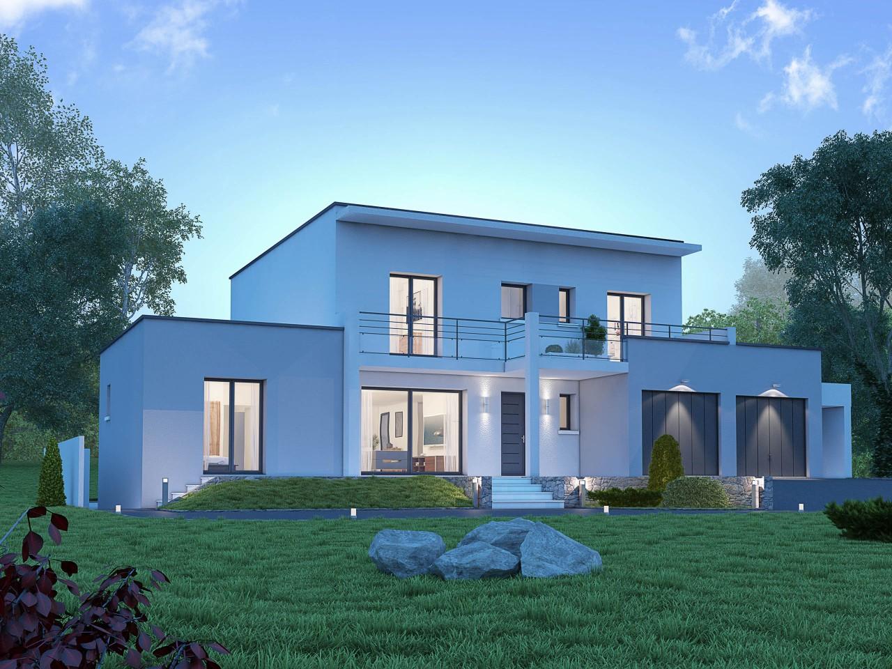 maison moderne region parisienne. Black Bedroom Furniture Sets. Home Design Ideas
