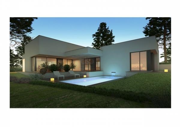 maison moderne rez de chaussee. Black Bedroom Furniture Sets. Home Design Ideas