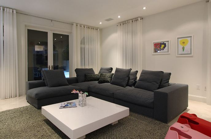 Maison moderne rideaux - Beaux rideaux salon ...