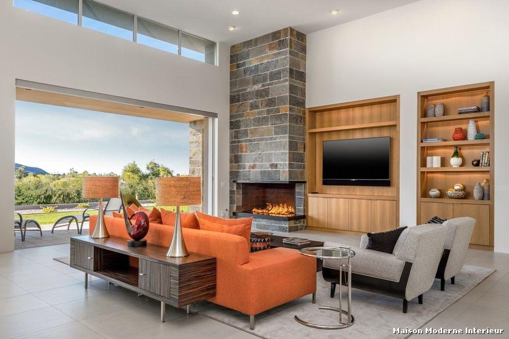 Maison moderne salon - Photo d interieur de maison design ...