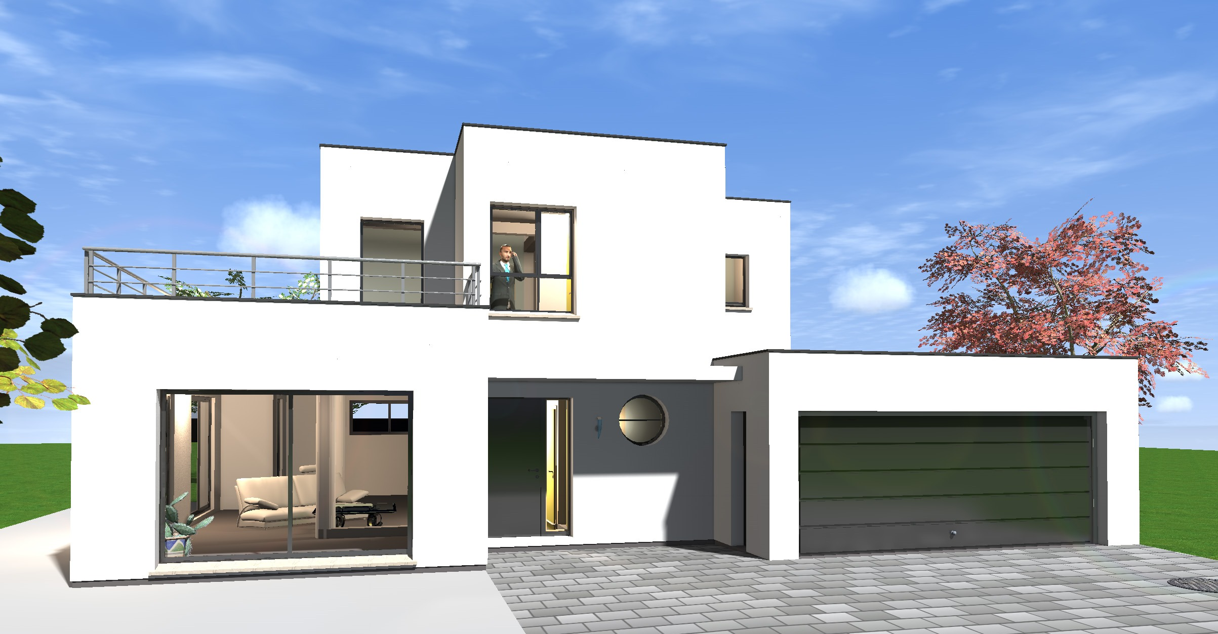 Maison moderne sans toit - Plan de maison sans toit ...