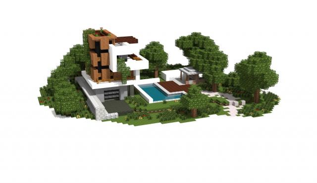 Schematic Minecraft Maison - Wiring Diagram Home