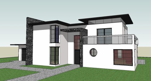 maison moderne sketchup