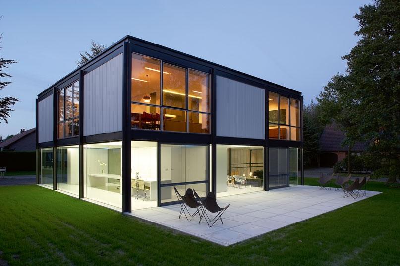 maison moderne structure metallique