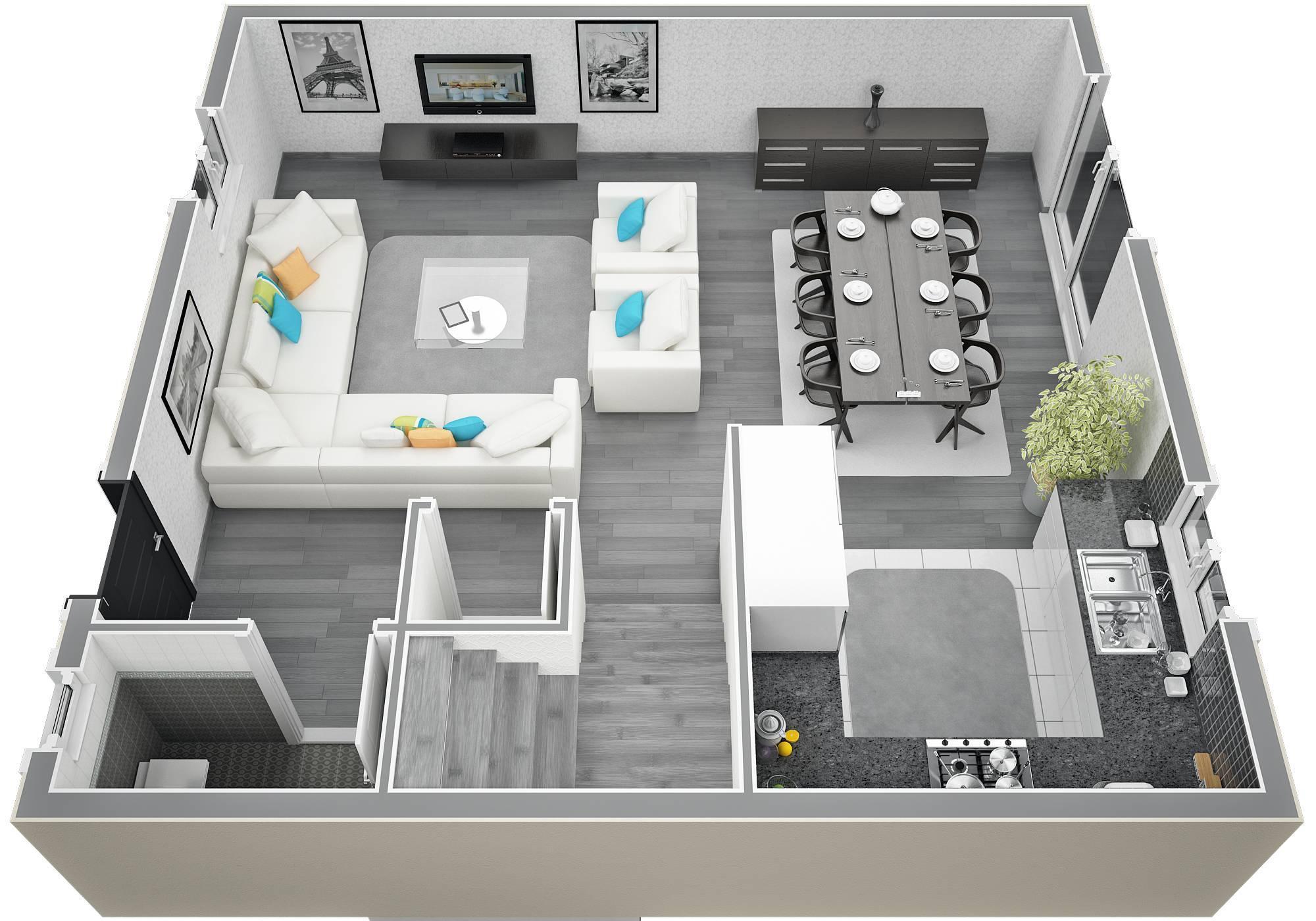 Plan Maison 100m2 : Maison moderne sweet home d