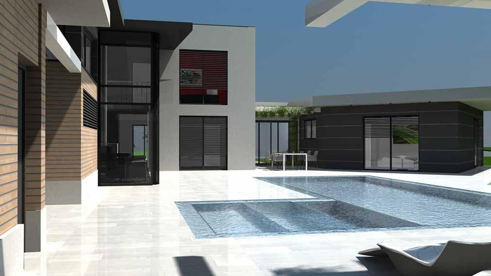 Maison Moderne Terrasse Bois