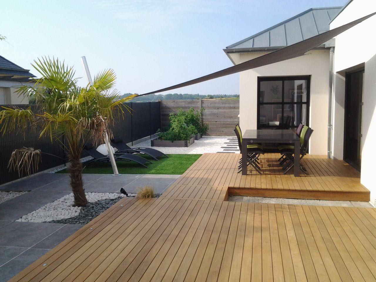 maison moderne terrasse bois. Black Bedroom Furniture Sets. Home Design Ideas