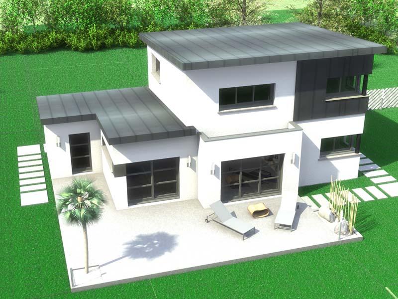 Maison moderne toit 1 pente - Plan de maison sans toit ...