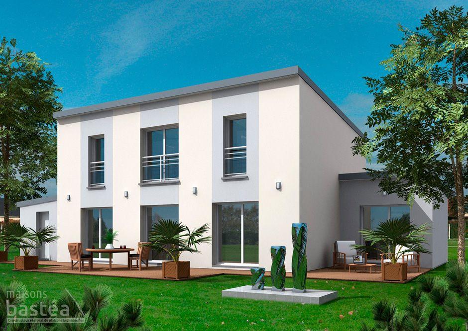 maison moderne toit 1 pente. Black Bedroom Furniture Sets. Home Design Ideas