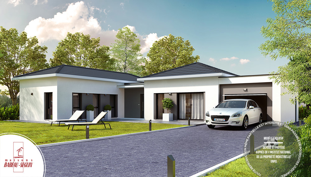 maison moderne toit 4 pentes
