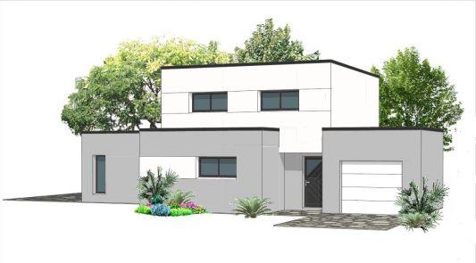 maison moderne toit plat 80m2
