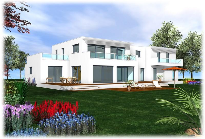 Maison moderne toit plat etage for Maison a etage moderne