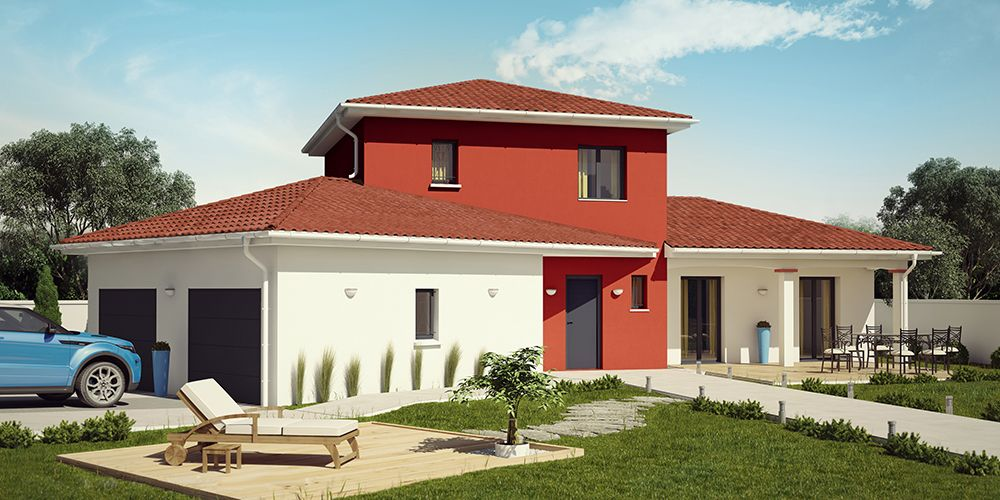 maison moderne tuiles rouges