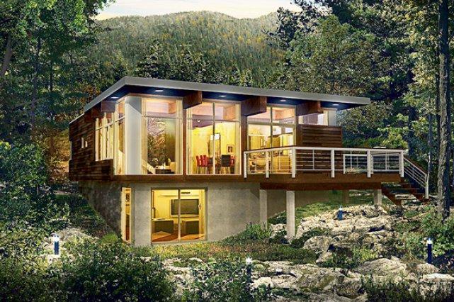 Maison moderne usinee - Plan de maison quebec ...
