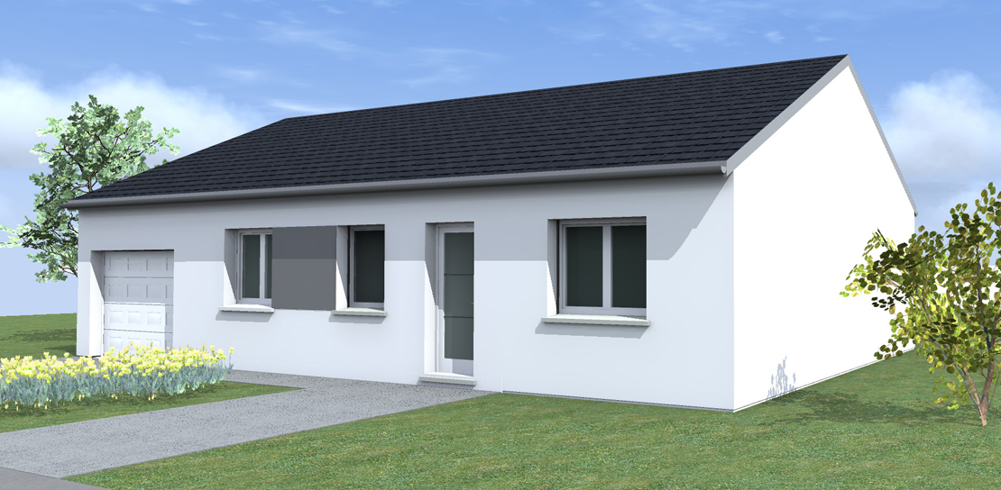 Maison plain pied 100 000 euros for Construction maison 60000 euros