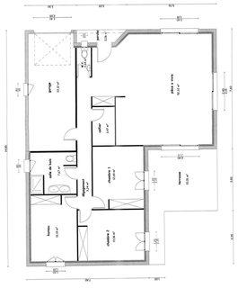 Modele maison plain pied 100m2