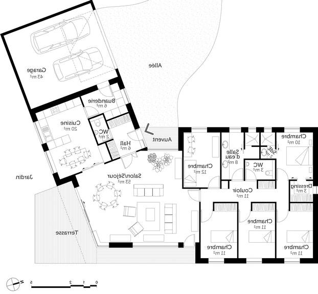 Maison plain pied 140 m2 - Plan maison plain pied 200m2 ...