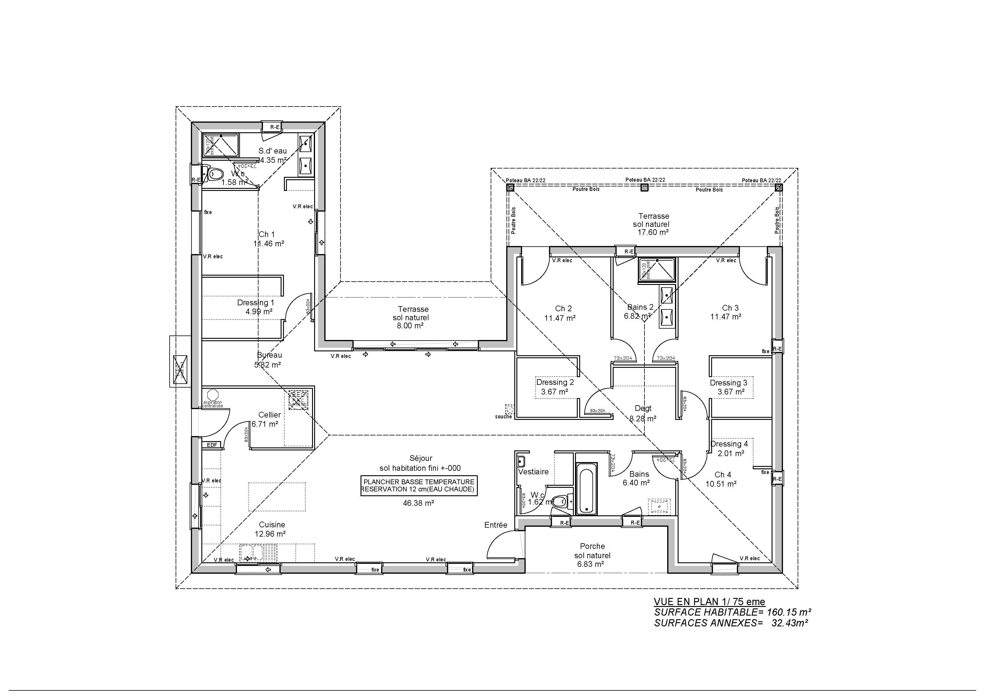 Plan De Maison Plain Pied Gratuit Faire Construire Sa Maison 3 12