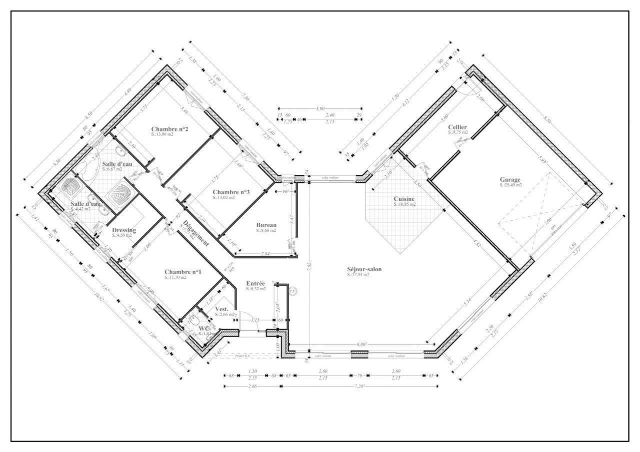 plan maison 170 m2 plain pied - maison plain pied 170 m2