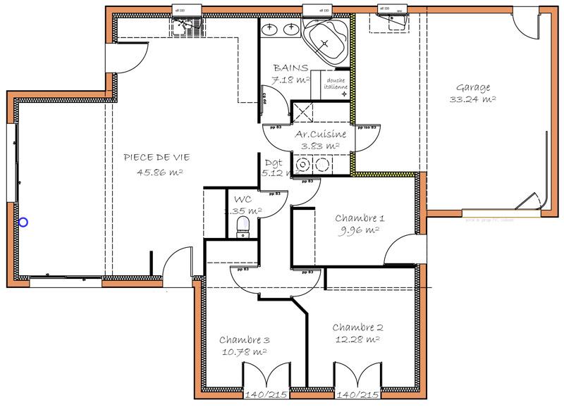 maison plain pied 3 chambres bretagne