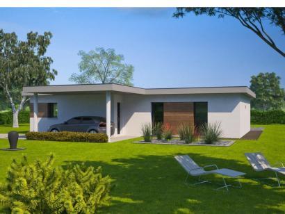 maison plain pied 3 chambres toit plat