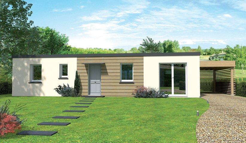 maison plain pied 3 chambres toit plat. Black Bedroom Furniture Sets. Home Design Ideas