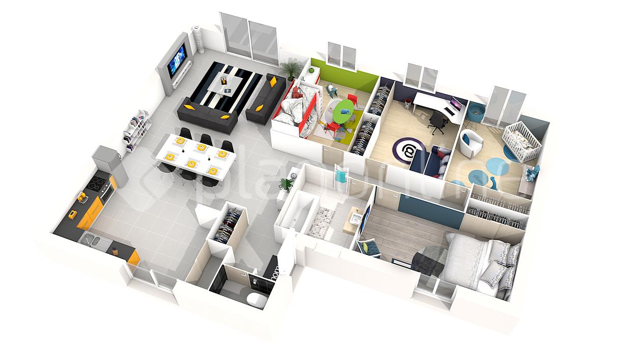 Plan Villa Moderne 3d Maison Francois Fabie 0
