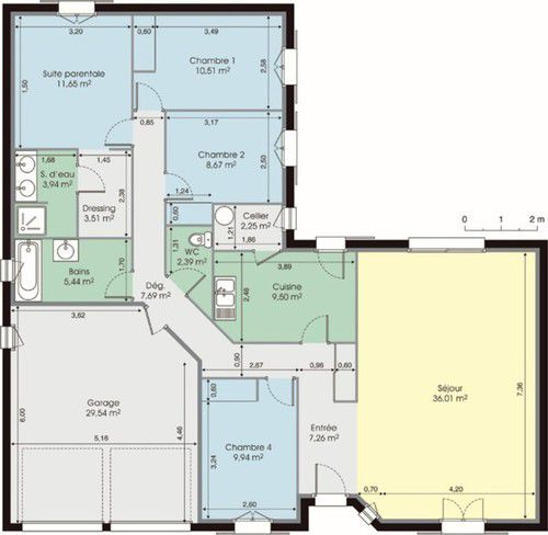 maison plain pied 4 chambres avec garage