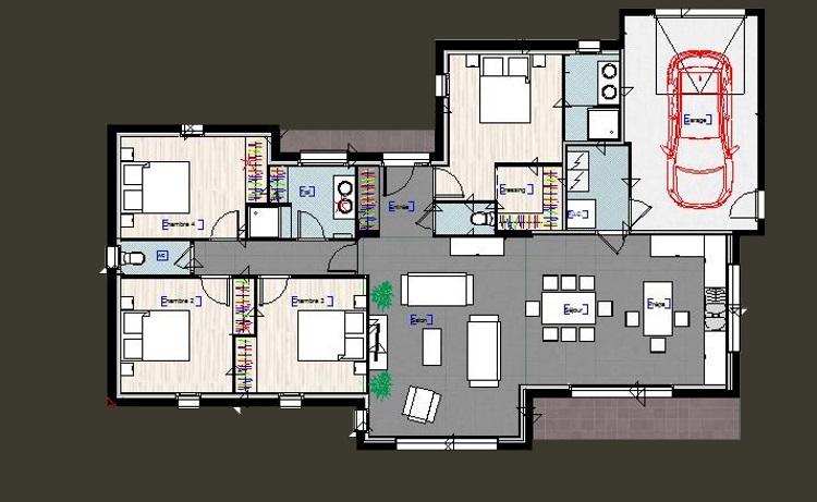 maison plain pied 4 chambres avec suite parentale