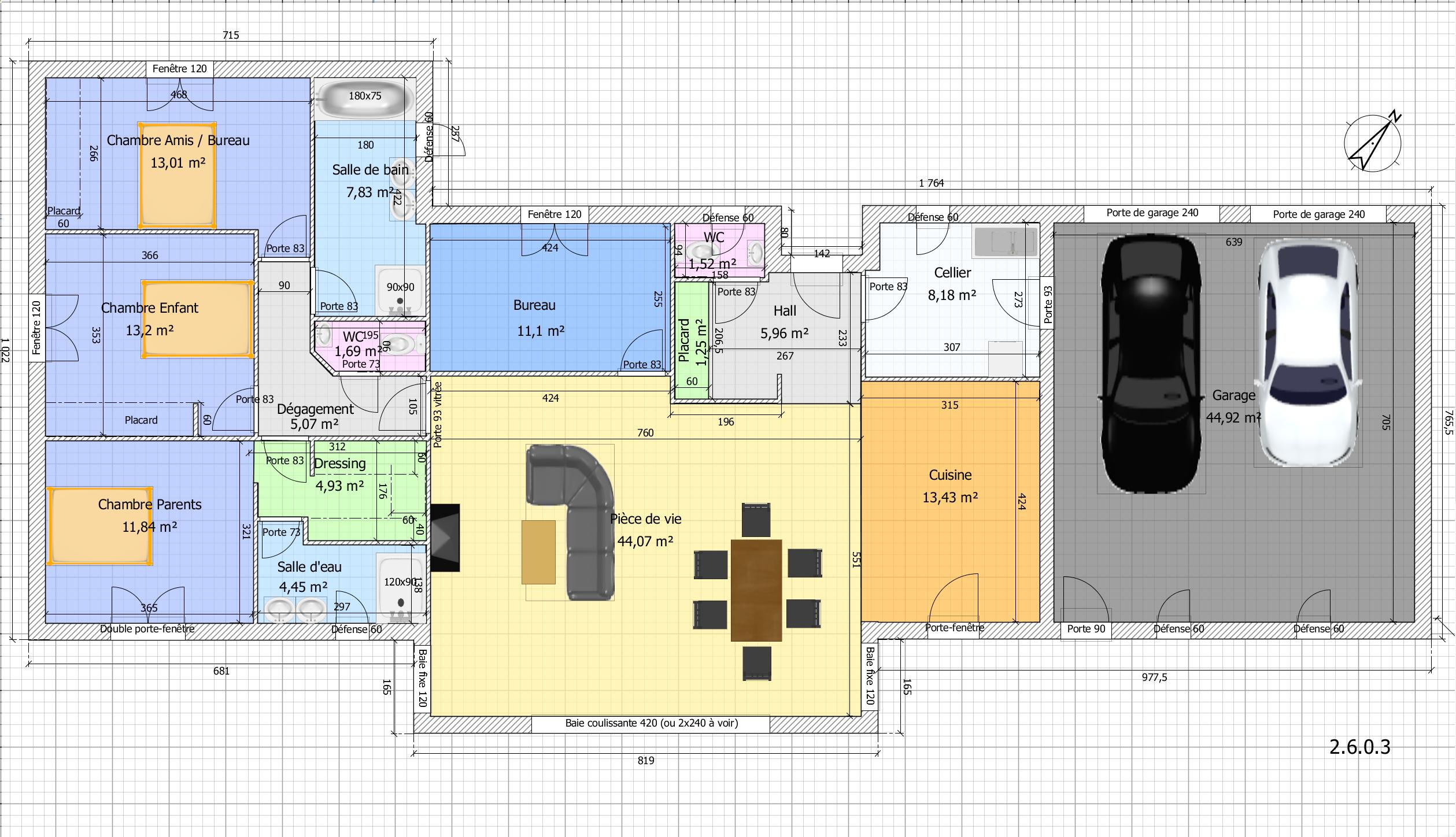 Maison plain pied 4 chambres avec suite parentale - Maison moderne plain pied 4 chambres ...