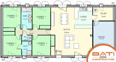maison plain pied 4 chambres plan