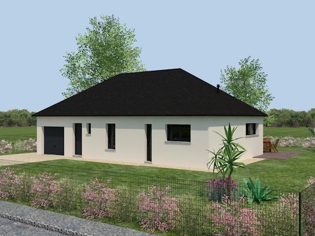 maison plain pied 4 pans. Black Bedroom Furniture Sets. Home Design Ideas