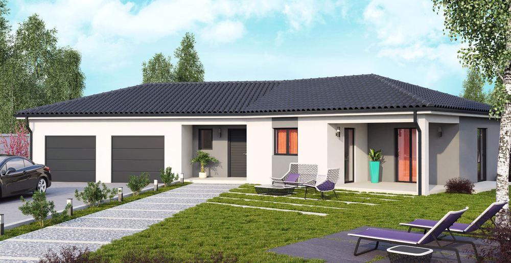 maison plain pied 42. Black Bedroom Furniture Sets. Home Design Ideas
