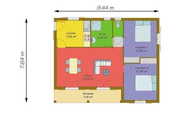 maison plain pied 50m2