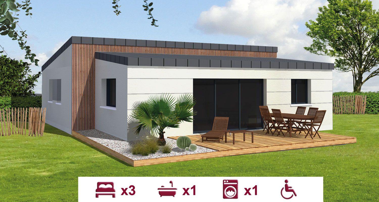 maison plain pied 56. Black Bedroom Furniture Sets. Home Design Ideas
