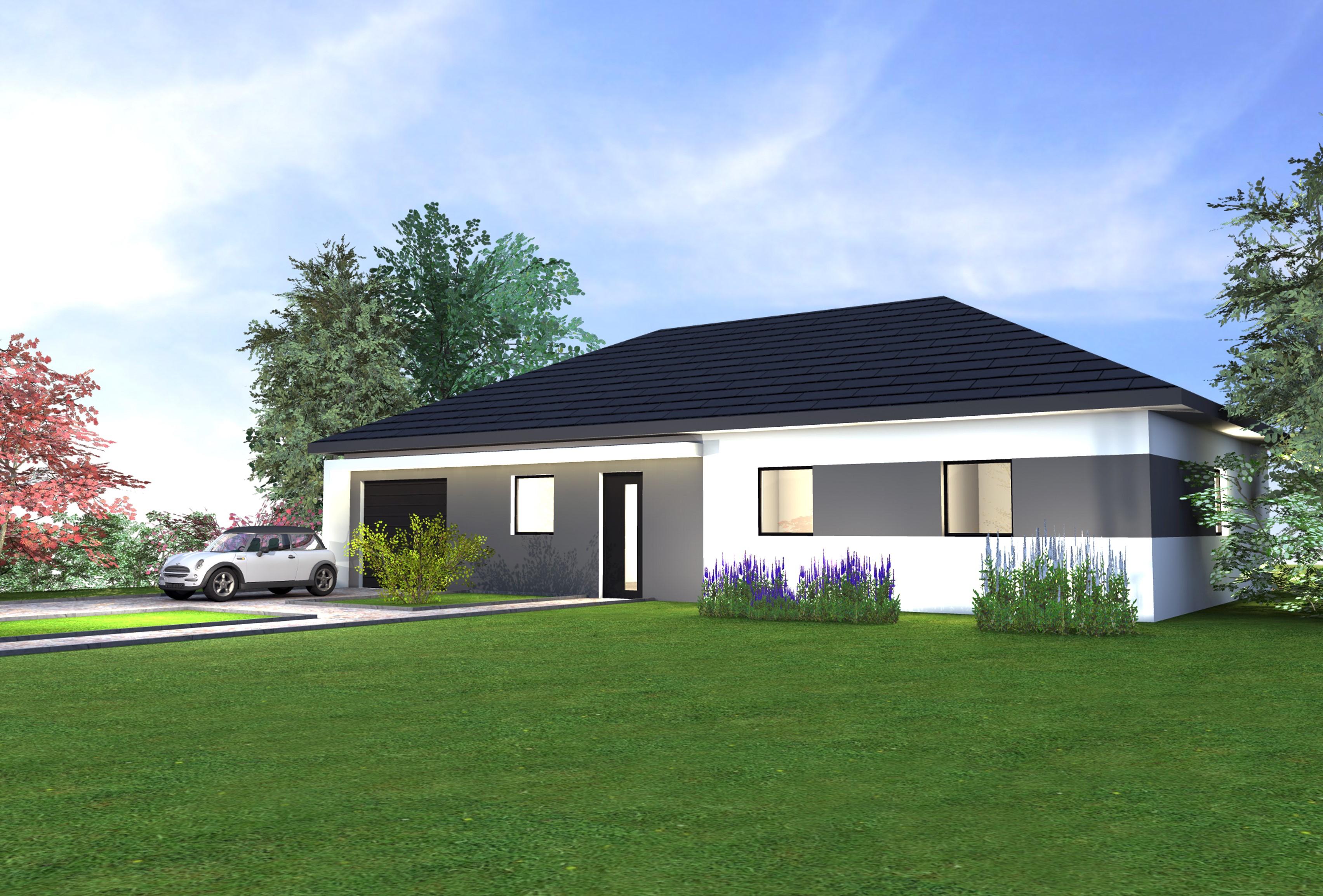 maison plain pied 68. Black Bedroom Furniture Sets. Home Design Ideas
