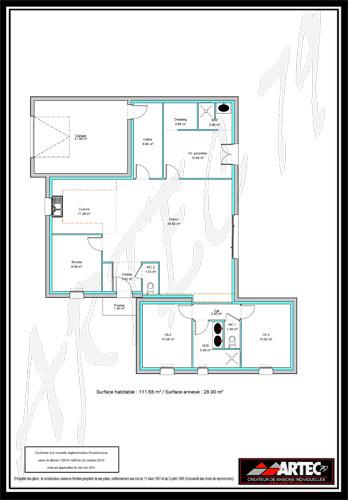 Maison plain pied 75m2 - Maison cubique plain pied ...