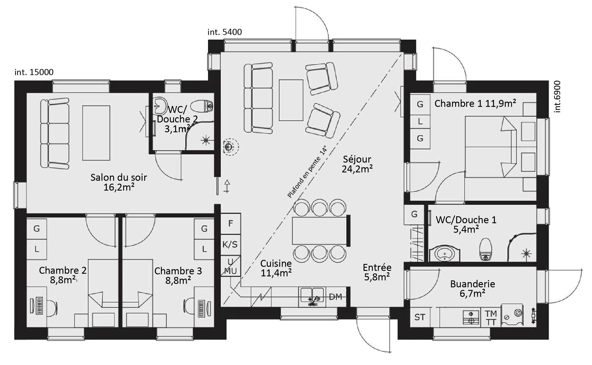 maison plain pied 79