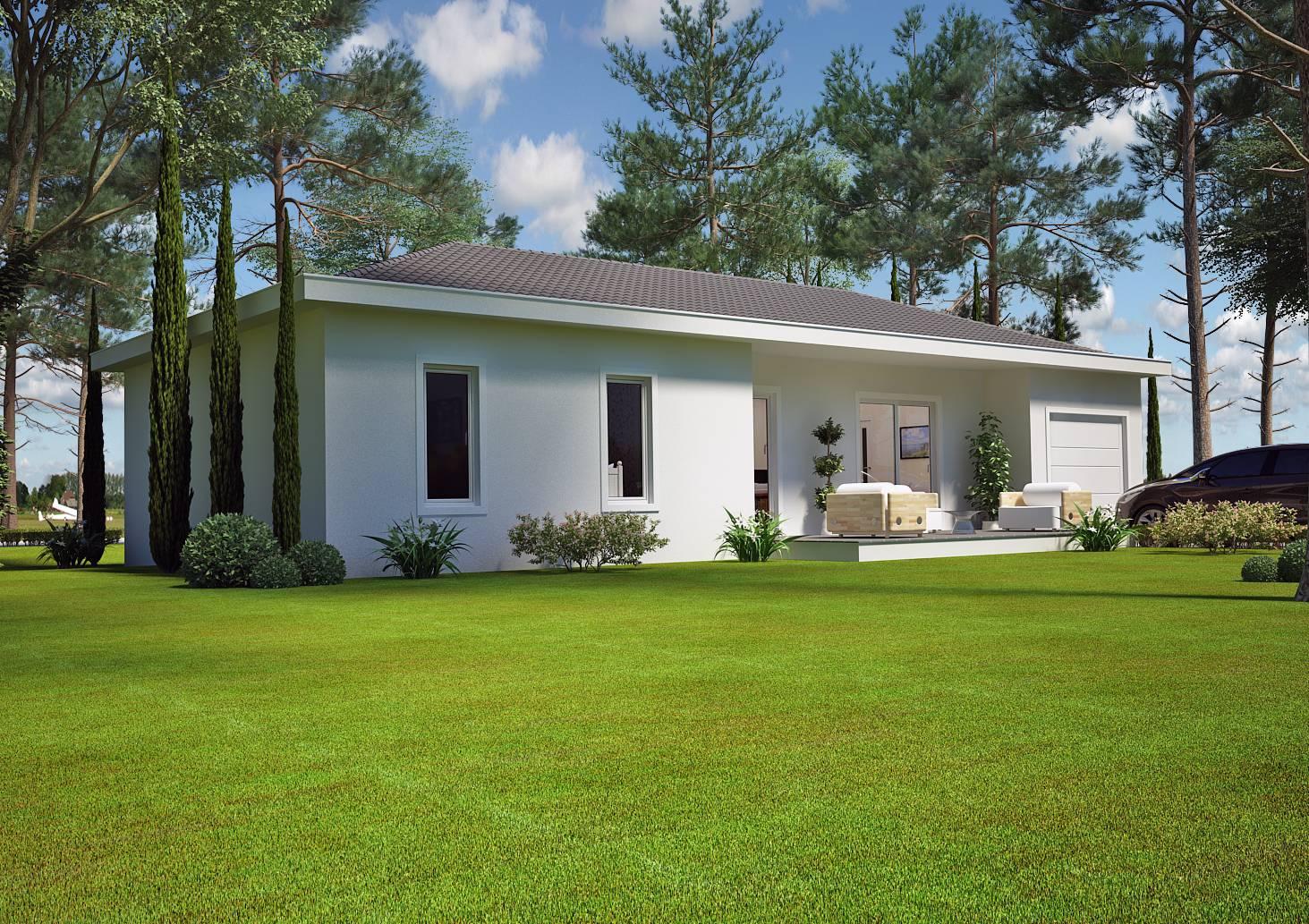 maison plain pied 80 m. Black Bedroom Furniture Sets. Home Design Ideas
