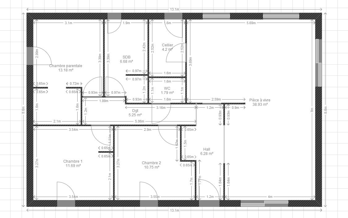 plan de maison 85m2 plain pied
