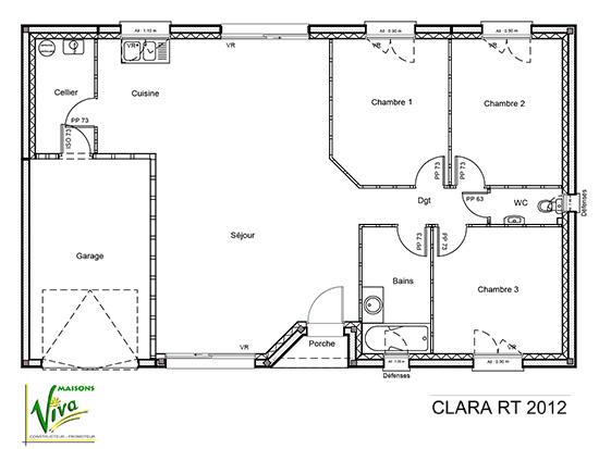 maison plain pied 90. Black Bedroom Furniture Sets. Home Design Ideas