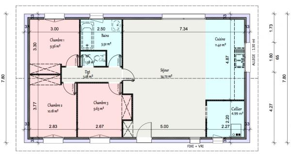 maison plain pied 90m2