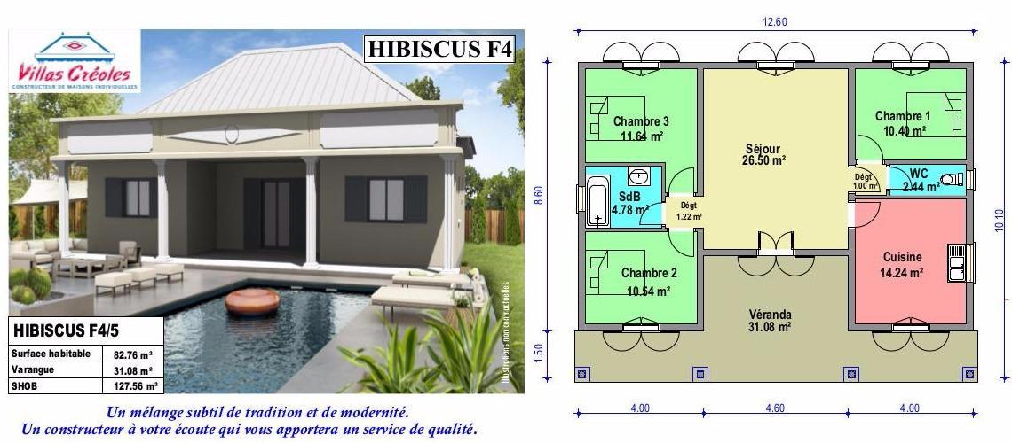 plan de maison 974