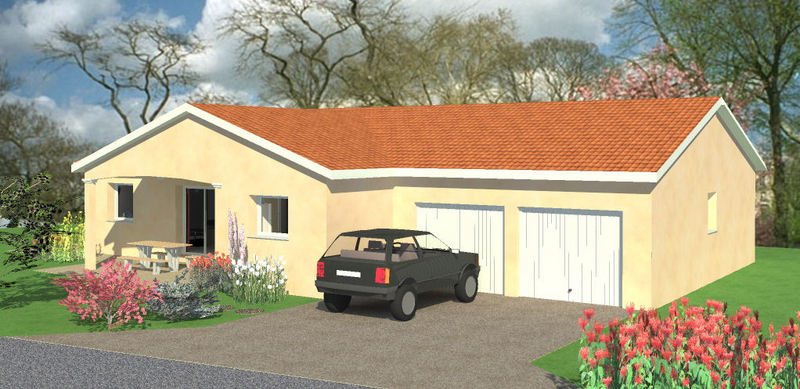 maison plain pied avec 2 garages. Black Bedroom Furniture Sets. Home Design Ideas