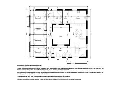Maison Plain Pied Avec Patio Interieur - Plan interieur maison plain pied