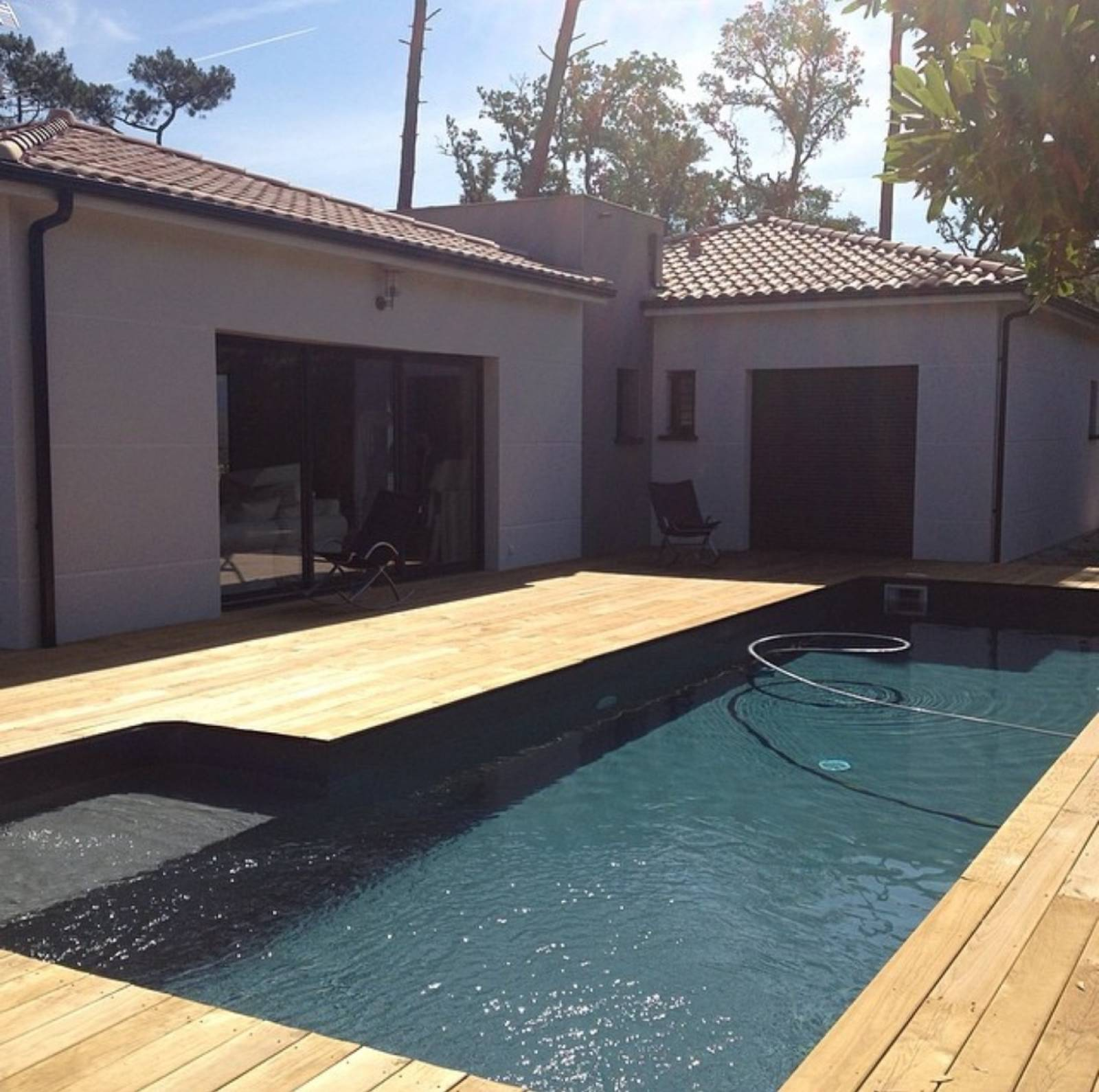 maison en u avec piscine maison plain pied avec piscine